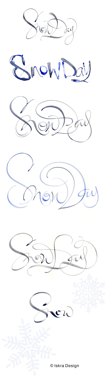 SnowDayMasterIskraExperimentalCalligraphy