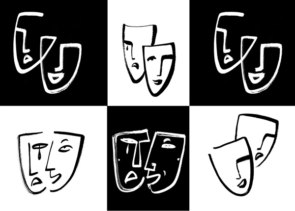 Theater-Masks-Icons