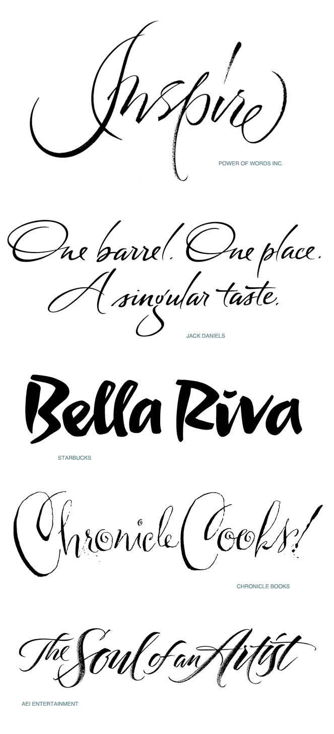 Hand lettered Script lettering Iskra Design